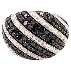 1.36 Carat Black Diamond Cocktail Ring