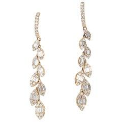 1.36 Carat Diamond Illusion Dangle Earrings