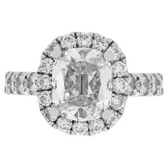 1.37 Carat Cushion Cut Engagement Ring