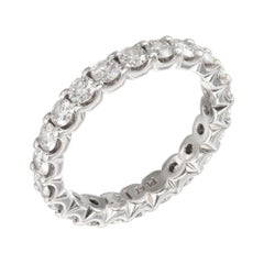 1.37 Carat Diamond Platinum Eternity Band Ring
