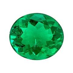 1.37 Carat Emerald Oval GIA, Unset Loose 3-Stone Ring, Pendant Necklace Gemstone