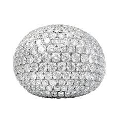 13.71 Carat Dome Diamond Ring
