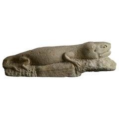 13th Century Italian Stone Fragment of a Salamander
