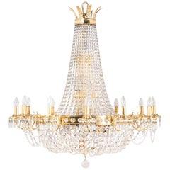 14 20th Century Regency Style Cut-Glass Chandeliers