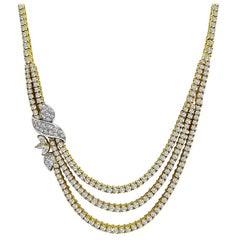 14 Carat Diamond Yellow Gold Necklace