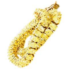 14 Carat Fancy Yellow Oval Shape Diamond Bracelet 18 Karat