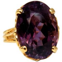 14 Carat Natural Purple Amethyst Ring 14 Karat