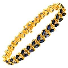 14 Carat Sapphire Bracelet Bangle