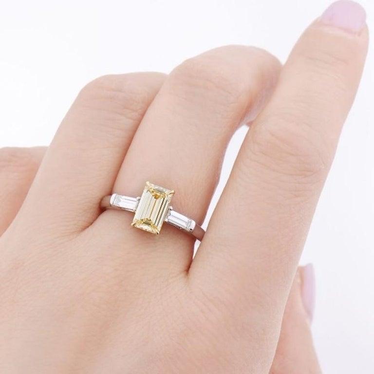 1.4 Carat Yellow Diamond Ring For Sale 1