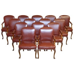 14 Leather Chairs From Princess Daiana's Family Home Spencer House Painted Room