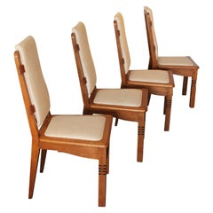 14 Chairs in Oak Designed by Charles Dudouyt