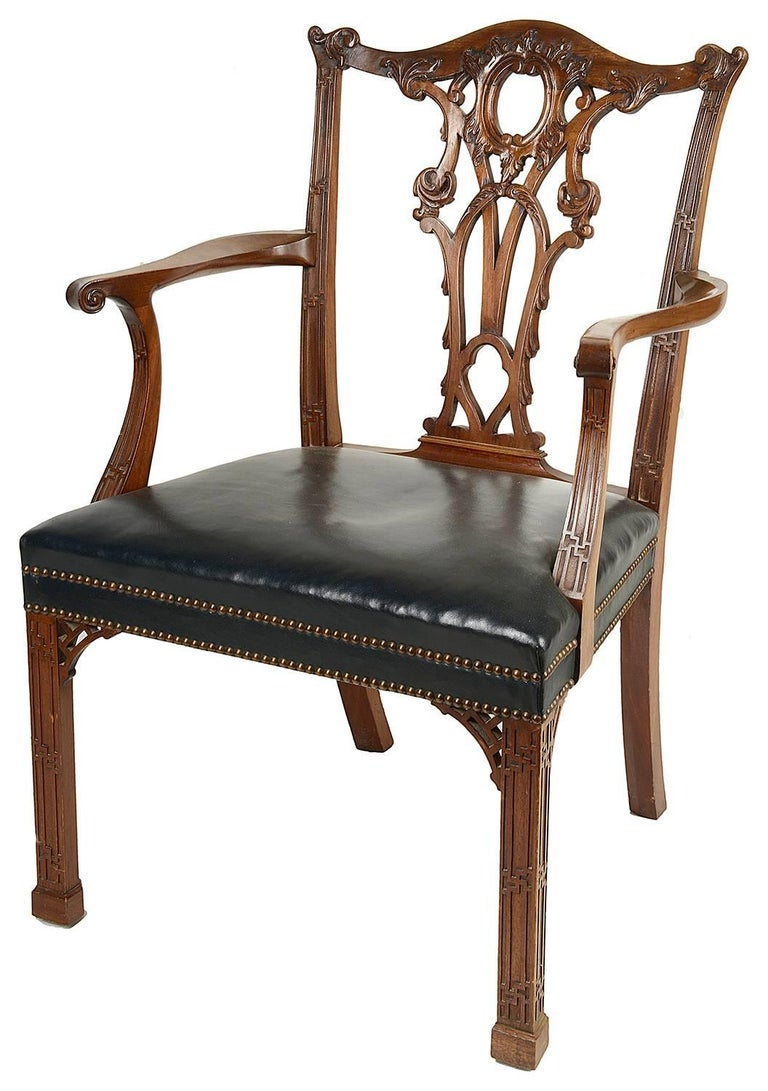 14 Chippendale Style 19th Century Dining Chair by Morant & Co. For Sale 1