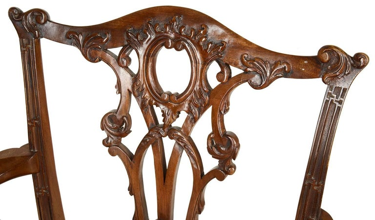 14 Chippendale Style 19th Century Dining Chair by Morant & Co. For Sale 2