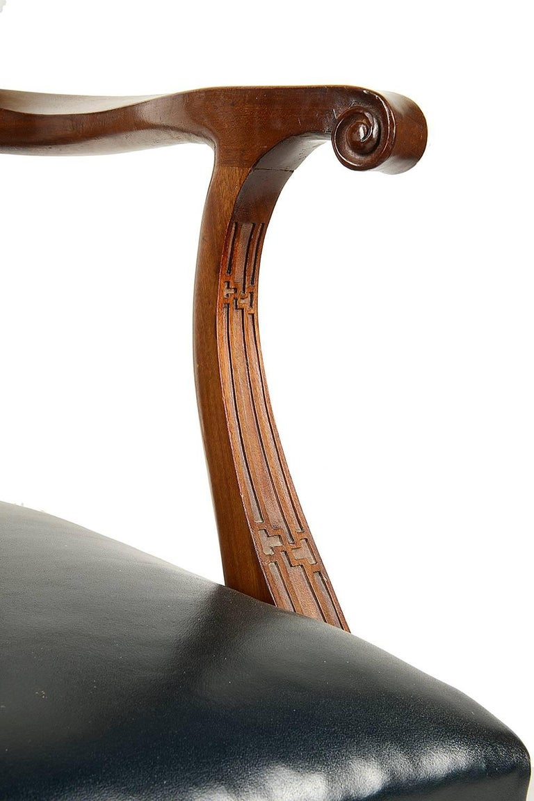 14 Chippendale Style 19th Century Dining Chair by Morant & Co. For Sale 3