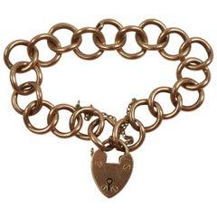14-Karat Gold Padlock Bracelet, Early 20th Century