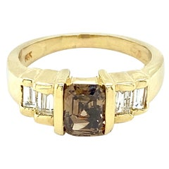 14 Karat 1.14 Carat Fancy Brown Diamond Ring