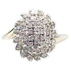 14 Karat 2-Tone Diamond Cluster Ring