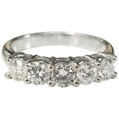 14 Karat 5-Stone Diamond Ring Weighing .95pts