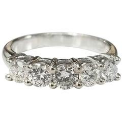 14 Karat 5-Stone Diamond Ring Weighing .95pts