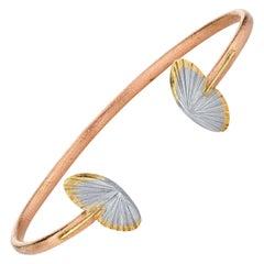 14 Karat and 18 Karat Open Wing Asterope Butterfly Cuff Bracelet
