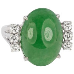 14 Karat Antique No Treatment Jade Ring