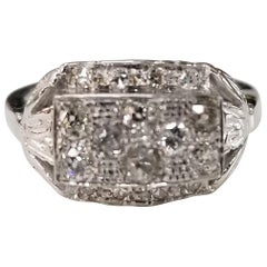 "14 Karat ""Art Deco"" Diamond Filigree Ring with .65 Points"