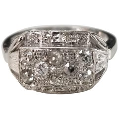 "14 Karat ""Art Deco"" Rose Cut Diamond Ring"