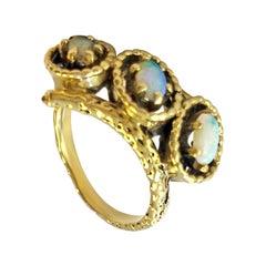 14 Karat Art Deco Vintage Opal Ring
