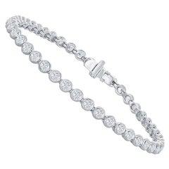 14 Karat Bezel Set Tennis Bracelet