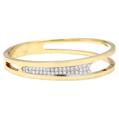 14 Karat Bi-Color Gold Diamond Bangle