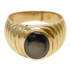 14 Karat Black Star Sapphire Ring