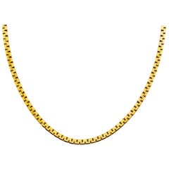 Gold Zipper Chain, 18 inches, 2.6 millimeters, 14 Karat Yellow Gold, Long Chain