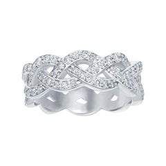 14 Karat Braided Diamond Ring