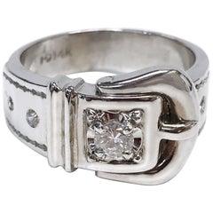 14 Karat Buckle Diamond Ring