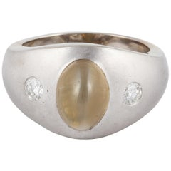 14 Karat Cat's Eye Chrysoberyl Ring