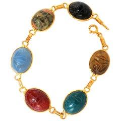 14 Karat Classic Scarab Bracelet