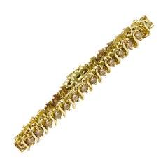 14 Karat Cognac Diamond Tennis Bracelet