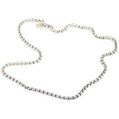 14 Karat David Yurman Box Chain Necklace Sterling Silver