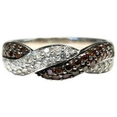 "14 Karat Diamond and Spessartite Garnet ""Endless Luck"" Ring"