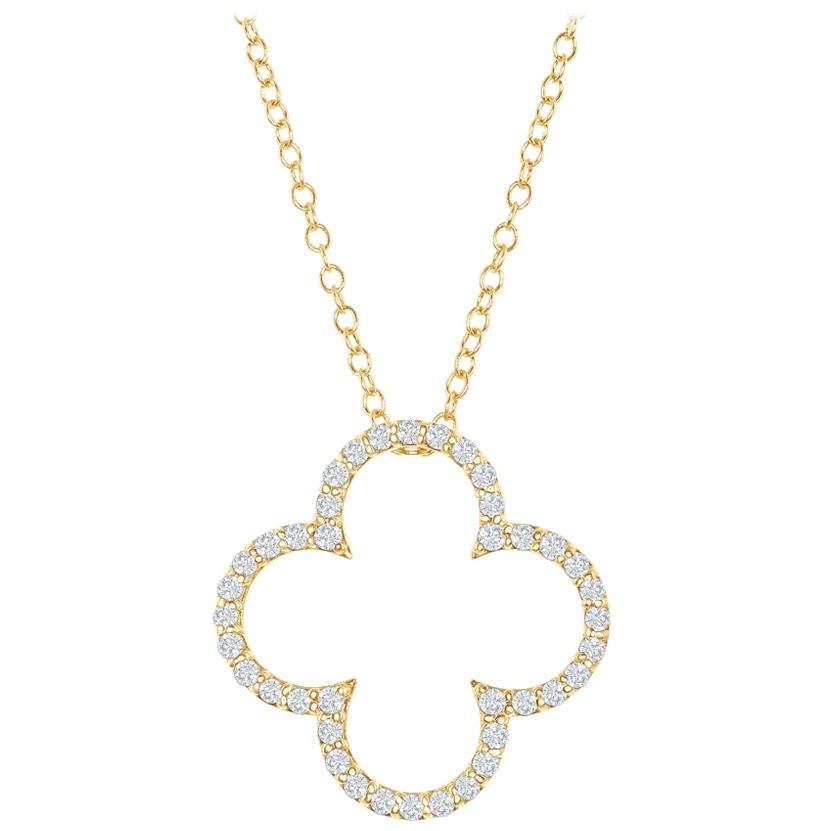 14 Karat Diamond Clover Pendant