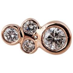 14 Karat Diamond Cluster Stud Earring