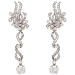 14 Karat Diamond Dangle Earrings