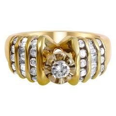 14 Karat Diamond Engagement Ladies Ring