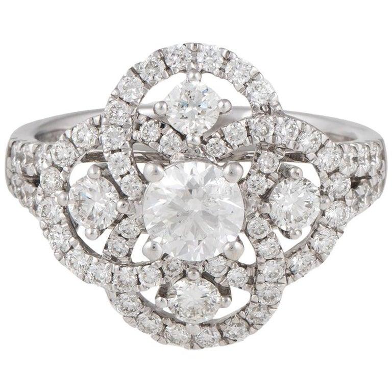 14 Karat Diamond Engagement Ring For Sale At 1stdibs