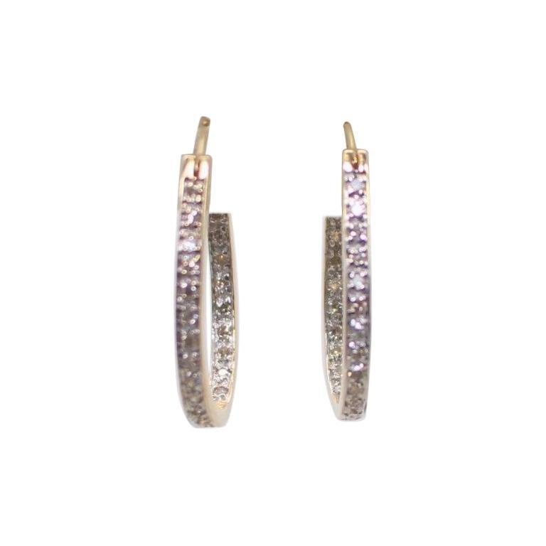 "14 Karat Diamond ""Horseshoe"" Earrings"
