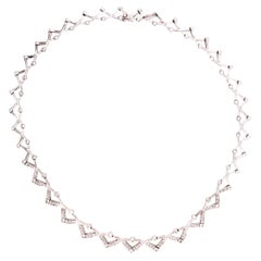 14 Karat Diamond Necklace 27.1 Grams Weight