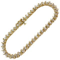 14 Karat Diamond Tennis Bracelet