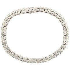 14 Karat Diamond Tennis Bracelet White Gold