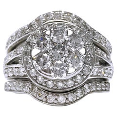 14 Karat Diamond Triple Ring Set