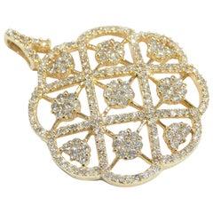 14 Karat Effy Diamond Pendant Yellow Gold 2.65 Carat